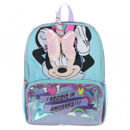 Minnie Mouse 3D I Believe In Unicorns Backpack