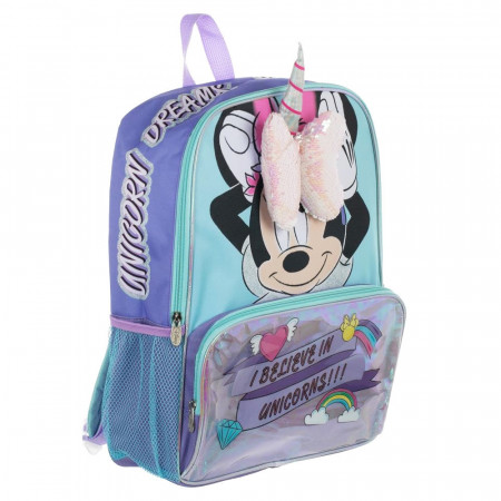 Minnie Mouse 3D Bow And Unicorn Horn Backpack