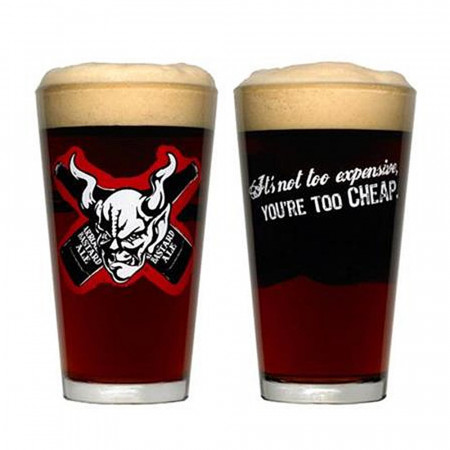 Arrogant Bastard Bones 16 Ounce Drinking Glass