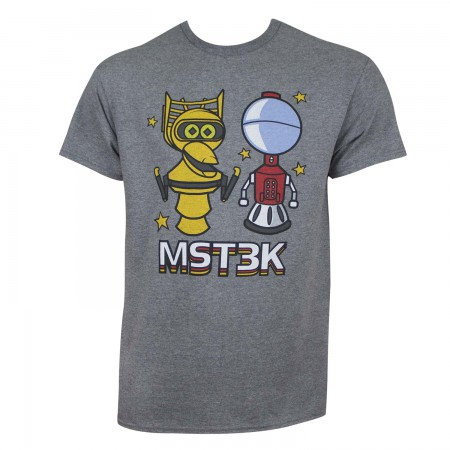 Mystery Science Theater 3000 Men's Gray Chibi Robots T-Shirt