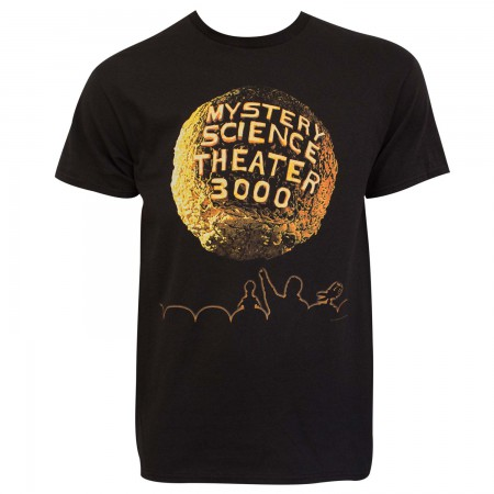 Mystery Science Theater 3000 Men's Black Planet Logo T-Shirt