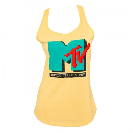 MTV Women's Yellow 8bit Tank Top