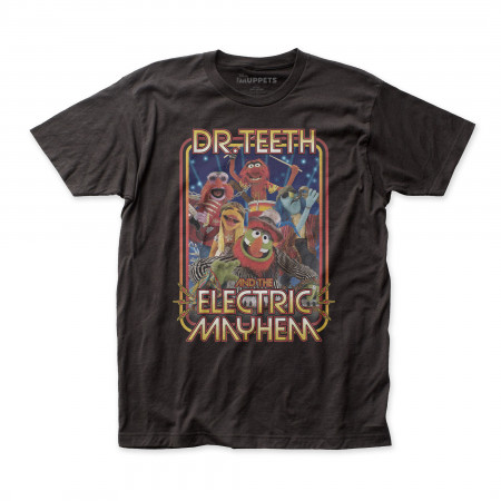 The Muppets Dr. Teeth And Band Men's Black T-Shirt