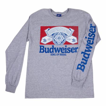 Budweiser Vintage Label Long Sleeve Shirt