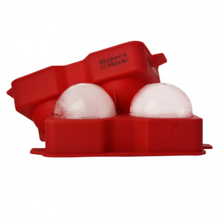 Maker's Mark Red Silicone Double Ice Ball Mold