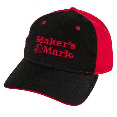 Maker's Mark Logo Red And Black Mens Adjustable Hat