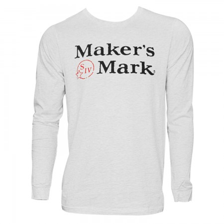Maker's Mark Men's Grey Long Sleeve T-Shirt