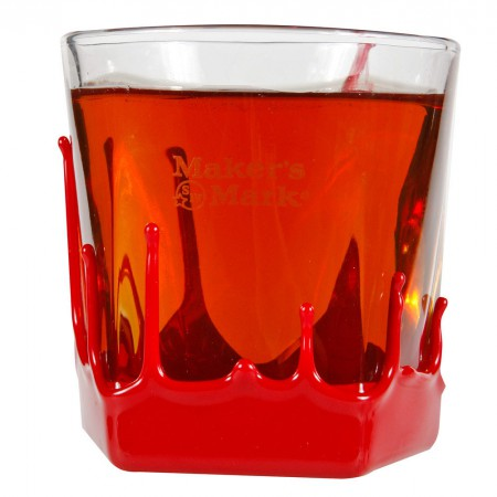 Maker's Mark Whiskey 9 oz. Rocks Glass With Wax Seal