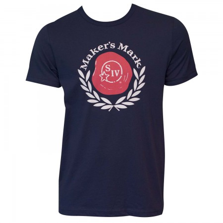 Men's Maker's Mark Navy Blue Wax Seal T-Shirt