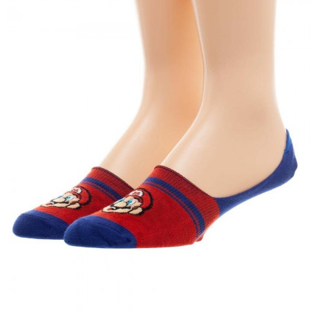 Super Mario Bros Luigi Men's Athletic Liner Socks