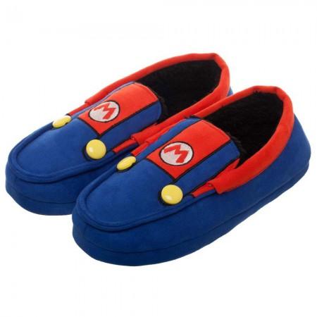 Super Mario Bros. Suit Up Costume Unisex Moccasins Slippers