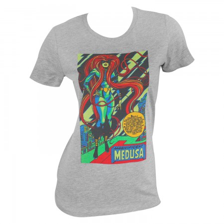 Marvel Medusa Women's Grey Blacklight T-Shirt