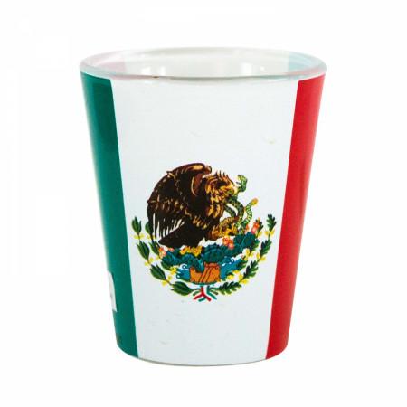 Mexican Flag Shot Glass