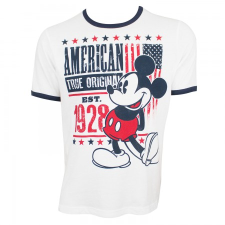 Mickey Mouse Men's White True Original American T-Shirt