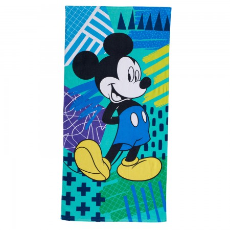 Mickey Mouse Blue Beach Towel