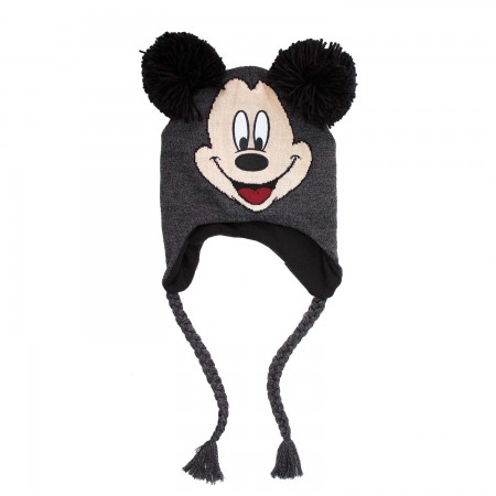 Mickey Mouse Gray Peruvian Pom Ear Costume Hat