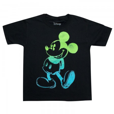Mickey Mouse Youth Boys Black Glow In The Dark T-Shirt