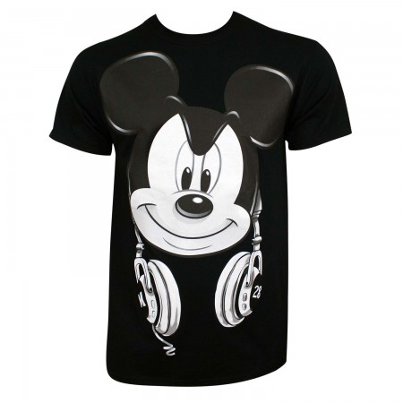 Mickey Mouse Men's Black DJ Mickey T-Shirt
