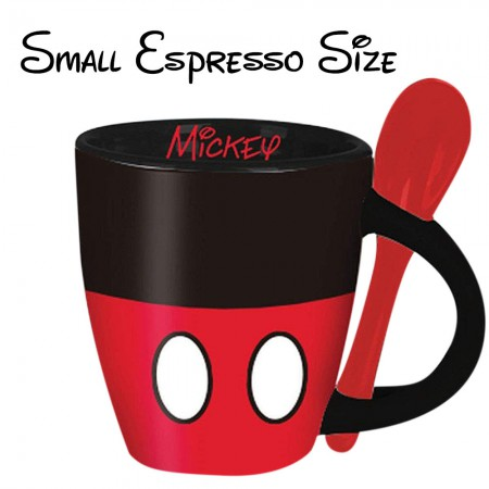 Mickey Mouse Small Espresso Cup With Spoon
