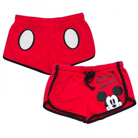 Mickey Mouse Ladies Red Beach Shorts