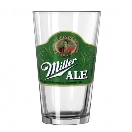 Miller Ale Green Vintage Pint Glass