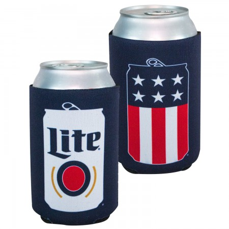 Miller Lite Patriotic Can Cooler