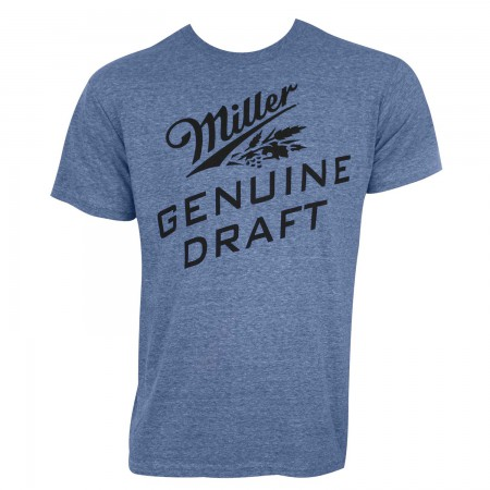 Miller Genuine Draft Men's Heather Blue T-Shirt