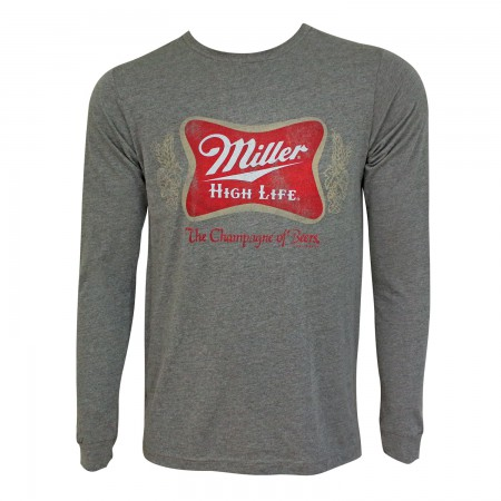Miller High Life Grey Vintage Crewneck Long Sleeve Tee