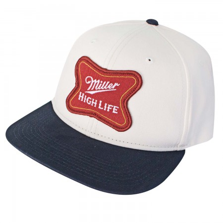 Miller High Life Patch Logo White Snapback Hat