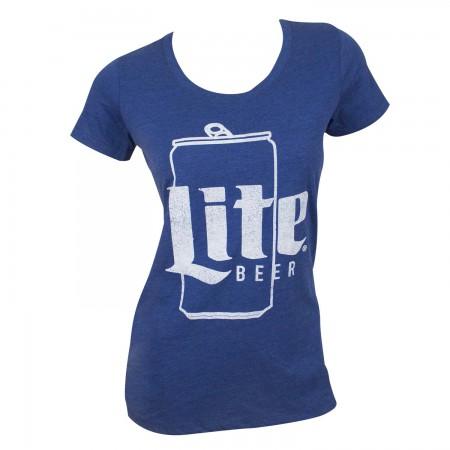 Miller Lite Women's Blue Can Logo T-Shirt
