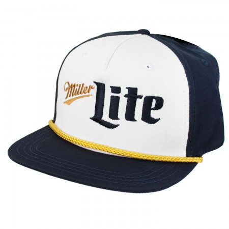 Miller Lite Blue and Gold Logo Hat