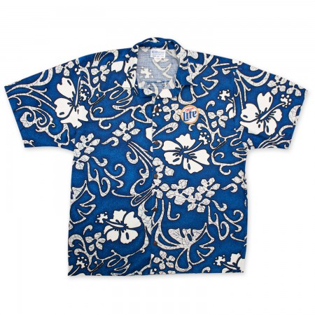 Miller Lite Hawaiian Beer Logo Shirt}