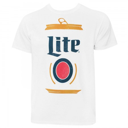 Miller Lite Stylized Can Men's White T-Shirt