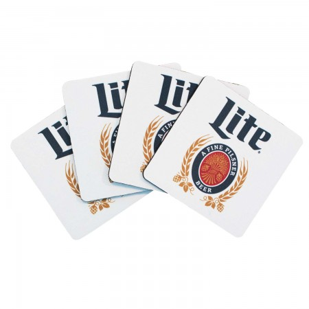 Miller Lite Coaster Four Pack