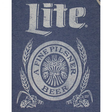 Miller Lite Beer Logo Men's Blue Retro Tank Top