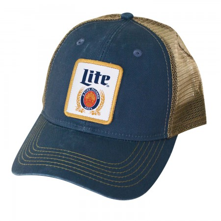 Miller Lite Navy Blue Retro Trucker Hat