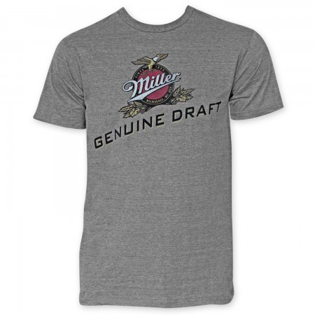 Miller Genuine Draft Men's Grey Tee Shirt}