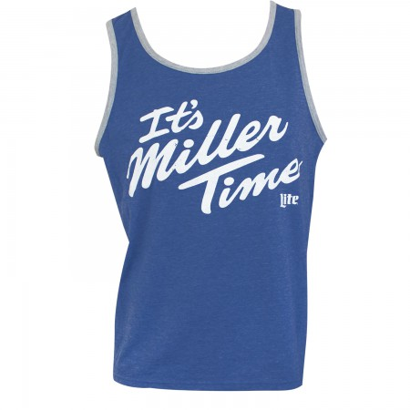 Miller Lite It's Miller Time Men's Blue Tank Top