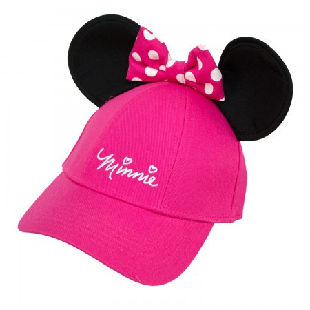 Minnie Mouse Pink Girls Ears Hat