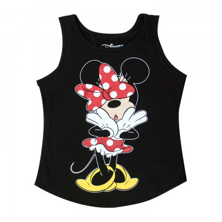 Disney Minnie Mouse Open Back Youth Girls 7-16 Tank Top