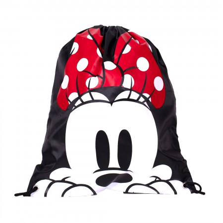 Minnie Mouse Head Drawstring Bag