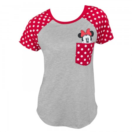 Minnie Mouse Women's Grey Pocket Sized T-Shirt