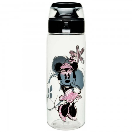 Minnie Mouse Clear Water Bottle