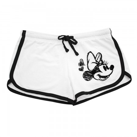 Minnie Mouse Ladies White Beach Shorts
