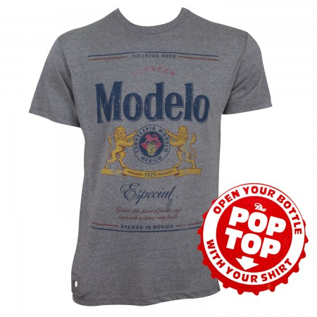 Modelo Especial Pop Top Bottle Opener Men's T-Shirt