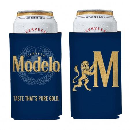 Modelo Gold Logo Navy Can Cooler