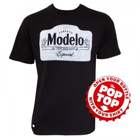 Modelo Especial Men's Black Pop Top Bottle Opener T-Shirt