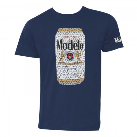 Modelo Stained Glass Can Men's Navy Blue T-Shirt