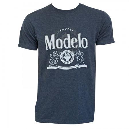 Modelo Men's Blue Crest Logo T-Shirt