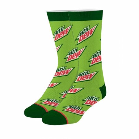 Mountain Dew Logo Green Socks